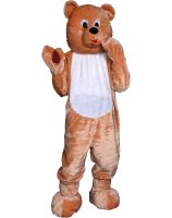 Teddy Bear Economy Mascot Adult Costume - One-Size