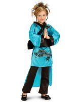 Teal Dragon Child Costume - Medium (8-10)