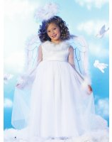 Pretty Angel Child Costume - Small (6)