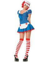 Rag Doll Adult Costume - Medium/Large