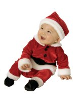 Velvet Santa Infant - Toddler Costume - Infant (6-12 Months)