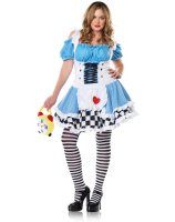 Miss Wonderland Adult Plus Costume - 3X/4X