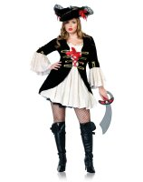 Captain Swashbuckler Adult Plus Costume - 1X/2X