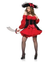 Vixen Pirate Wench Adult Plus Costume - 3X-4X