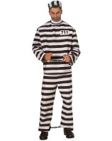 Convict Costume X-Large Adult - X-Large