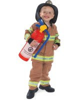Firefighter Tan Child Costume - 2-4
