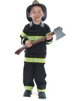 Firefighter Black Child Costume - 2-4