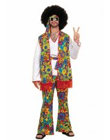 Hippie Man Adult Plus Costume - Plus