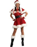 Velvet Miss Santa Adult Costume - Small