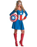 Captain America Female Classic Adult Costume - Large (12-14)