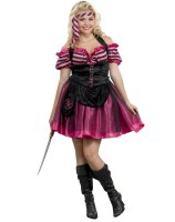 Pink Pirate Dancer Adult Plus Costume