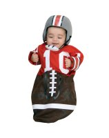 Football Red Deluxe Bunting Infant Costume - Infant (0-9 Months)