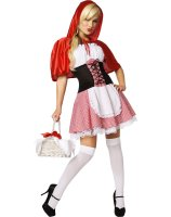 Red Riding Hood Adult Costume - X-Small (2-4)
