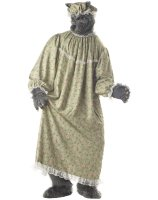 Wolf Granny Adult Costume - One-Size