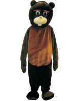 Adult Beaver Mascot Costume Set - One-Size