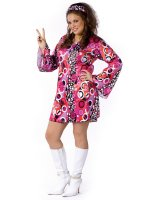 Feelin' Groovy Adult Plus Costume - Plus (Up to Size 20)