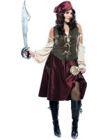 High Seas Pirate Adult Plus Costume
