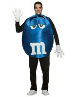 M&Ms Blue Poncho Adult Costume - Standard
