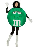 M&Ms Green Poncho Adult Costume - Standard