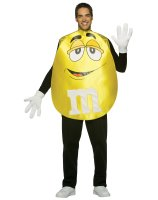 M&Ms Yellow Poncho Adult Costume - Standard