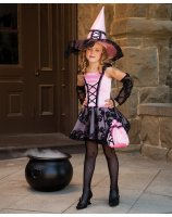 Lacy Witch with Glovelettes Child Costume - Medium (8)