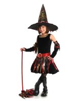 Flame Witch with Arm Warmers Child Costume