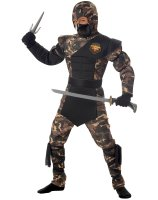 Special Ops Ninja Child Costume - Husky (8-10)