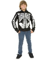 Skeleton Sweatshirt Hoodie Child Costume - X-Large (12-14)