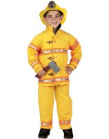 Jr. Firefighter Suit with Helmet Kids' Costume