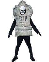Gravestone 3D Foam Suit Adult Costume