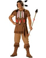 Indian Warrior Adult Costume - Medium