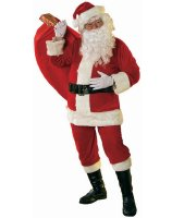Soft Velour Santa Suit Adult Costume