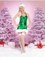 Holiday Hottie Green Adult Costume