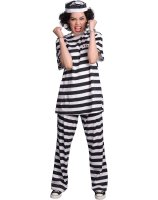 Female Prisoner Adult Costume - Small (4-6)