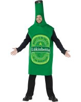 Beer Bottle Green Adult Costume - One Size Fits Most Adults