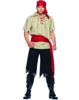 Cut Throat Pirate Adult Costume - Medium/Large