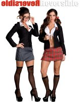 Trouble At School Reversible Adult Costume - Small