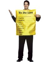 To Do List Adult Costume