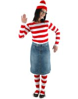 Where's Waldo - Wenda Adult Costume Kit - Small/Medium