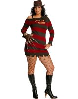A Nightmare On Elm Street - Miss Krueger Adult Plus Costume - One-Size (Plus)