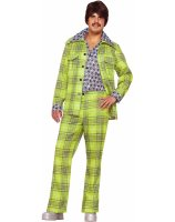 70s Plaid Leisure Suit Adult Costume - Standard