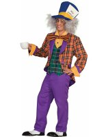 Plaid Mad Hatter Adult Costume - One Size Fits Most Adults