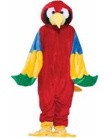Parrot Plush Economy Mascot Adult Costume - Standard (One Size)