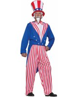 Uncle Sam Adult Plus Costume - Plus