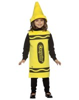 Yellow Crayola Crayon Child Costume - 4-6X