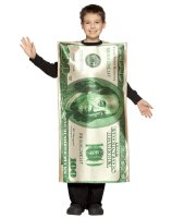 100 Bill Child Costume - 7-10