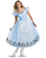 Alice in Wonderland Movie - Deluxe Alice Adult Costume - Medium (8-10)