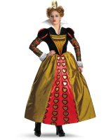 Alice In Wonderland Movie Deluxe Red Queen Adult Costume - Small (4-6)
