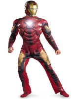 Iron Man 2 2010 Movie - Iron Man Mark 6 Light Up Deluxe Adult Costume