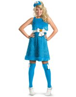 Sesame Street - Cookie Monster Sassy Female Adult Costume - Medium (8-10)